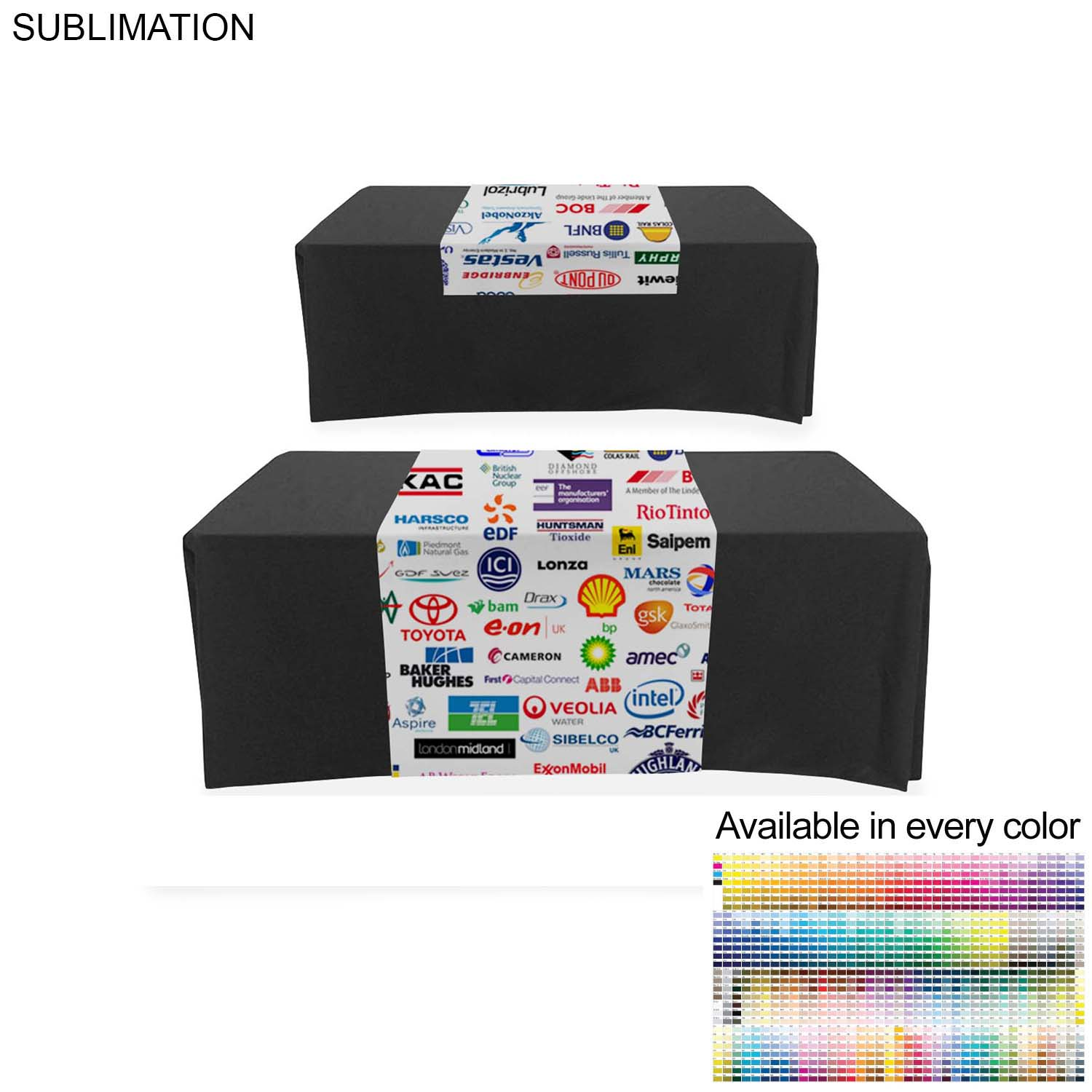 Sublimated Table Runner (Partially Closed Back), 30x72 - Full Colour Imprint (#SU519)