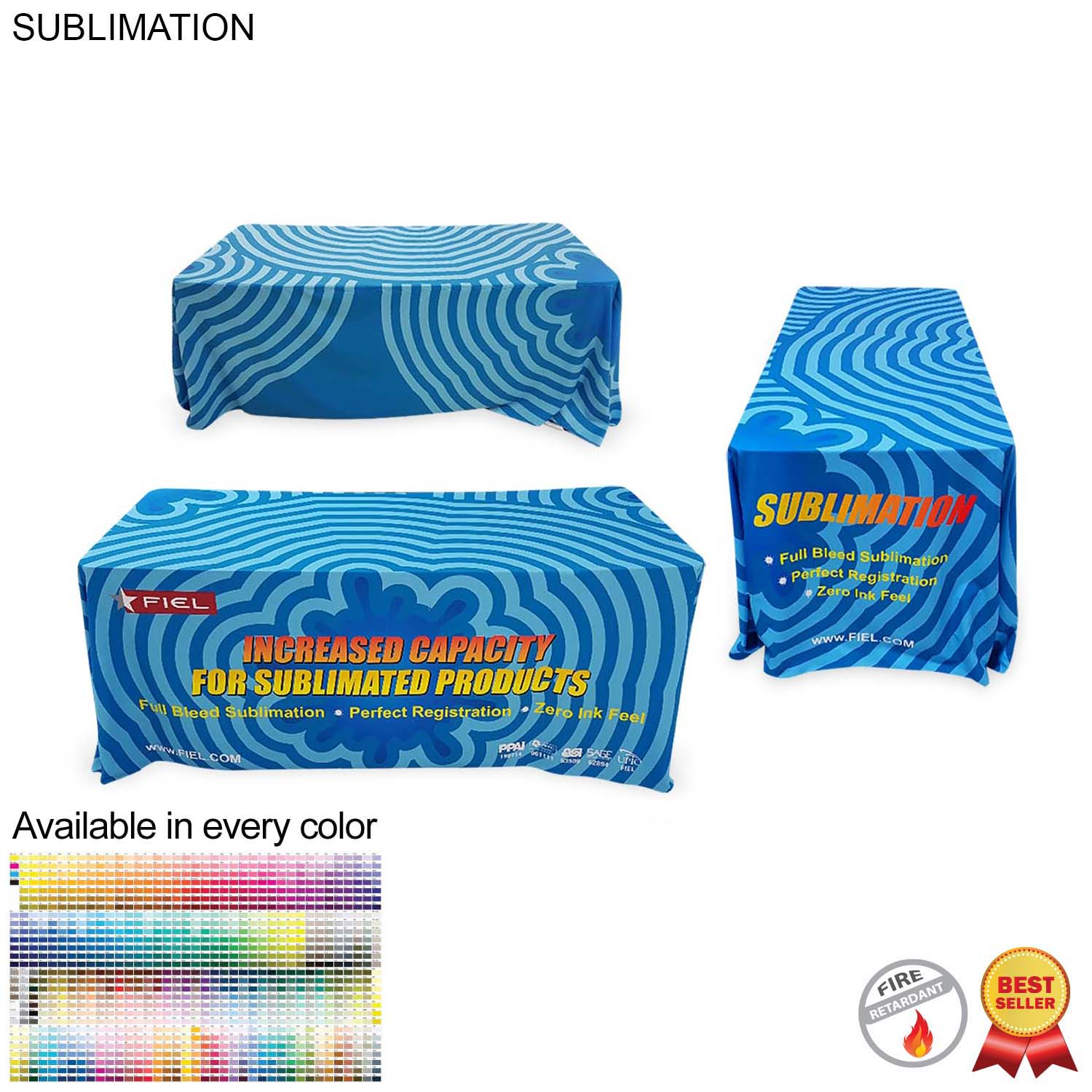 Sublimated Table Throw for 6' table (Closed Back) - Full Colour Imprint (#SU511)