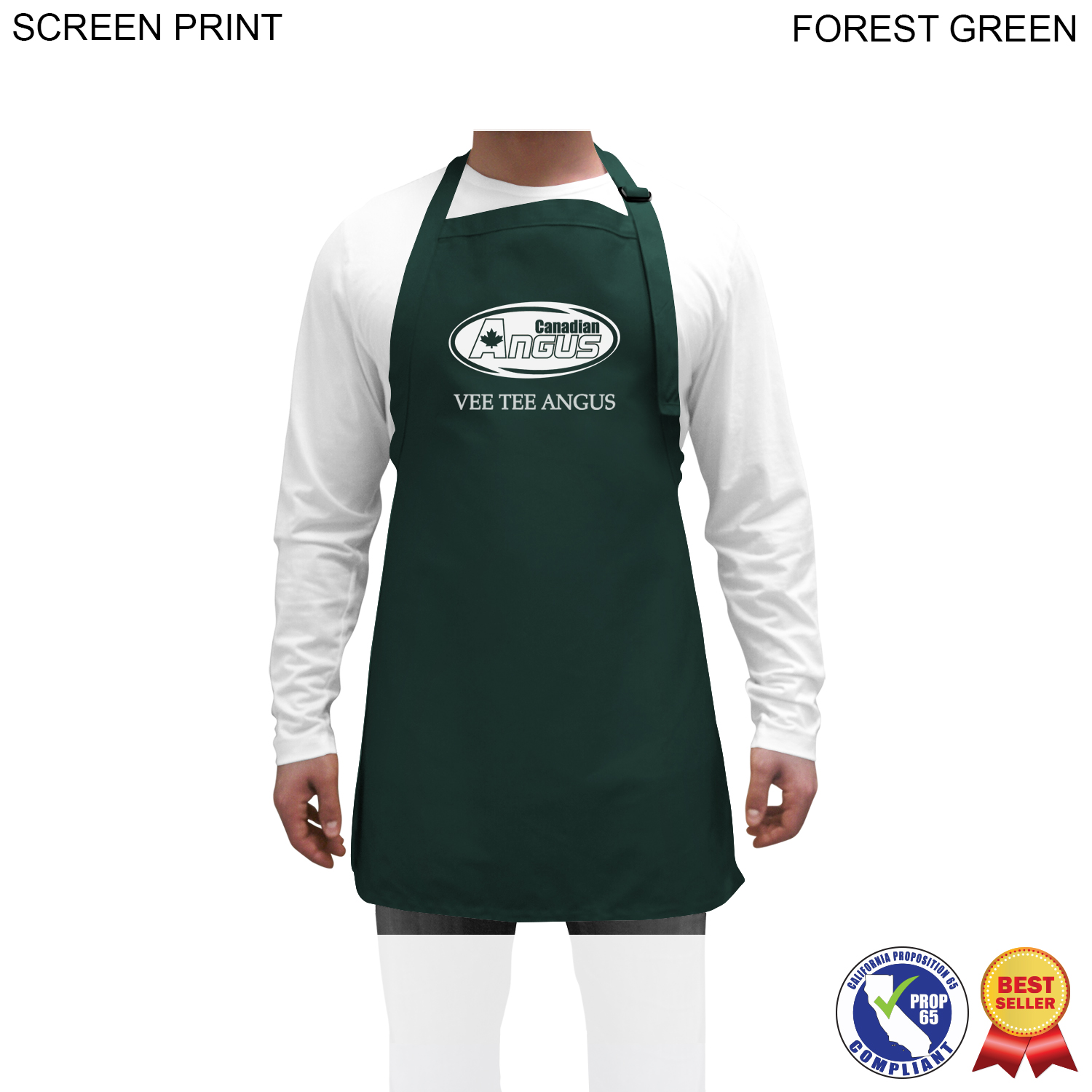 Twill Bib Apron, 25x28, 1 Colour Imprint (#PR260)