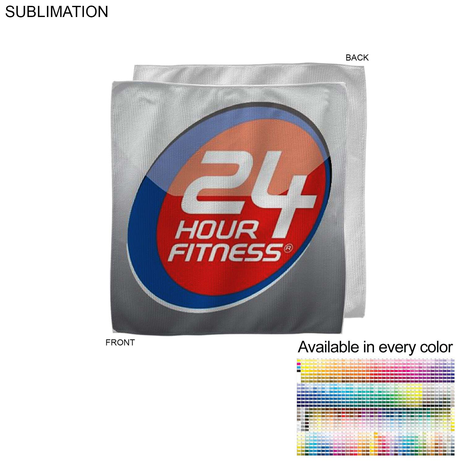 Microfiber Cooling Refresher Towel, 12x12, Sublimated - Full Colour Imprint (#SU206-4)