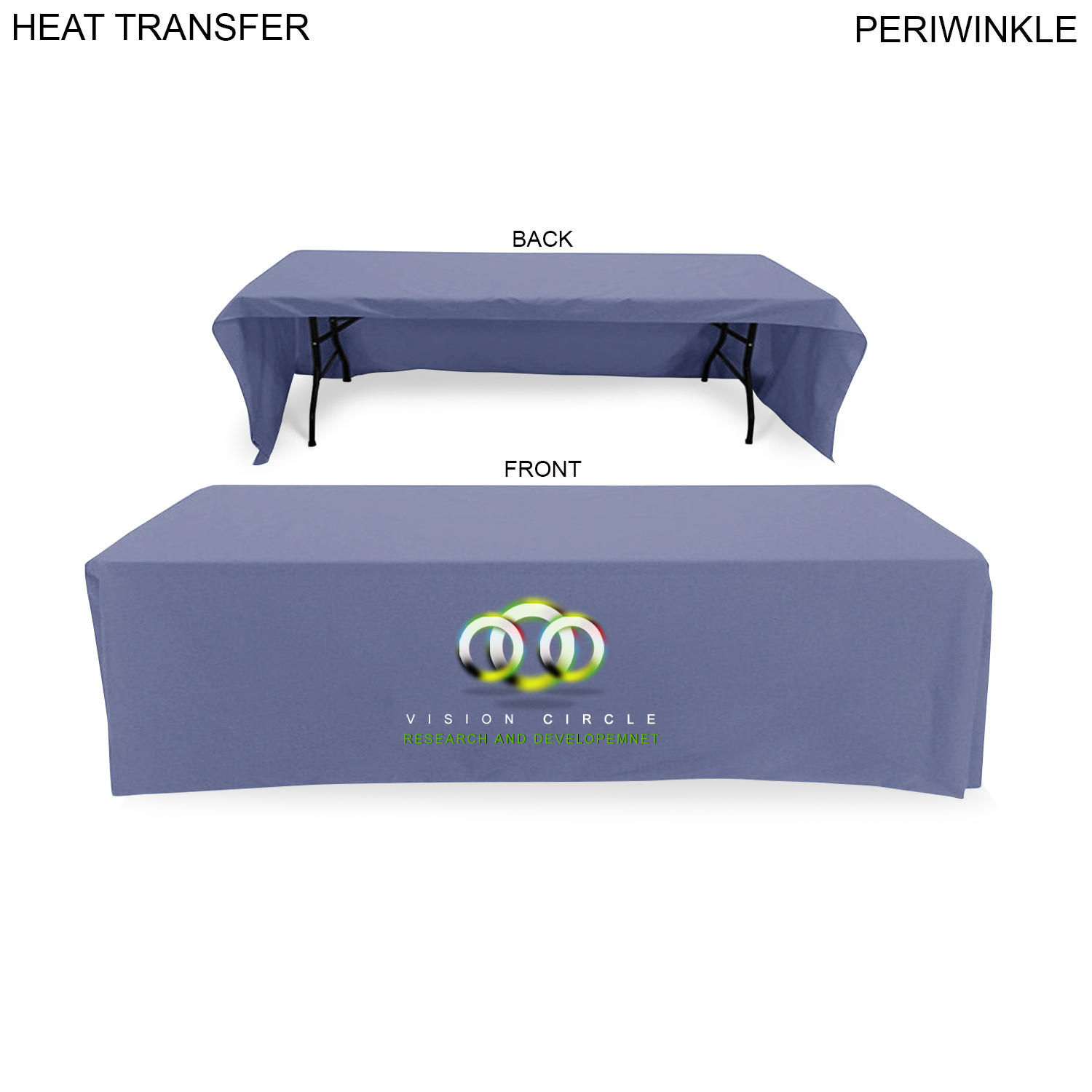 Econo Table Throw for 8' Table (Open Back), Full Colour Imprint (#HT600)