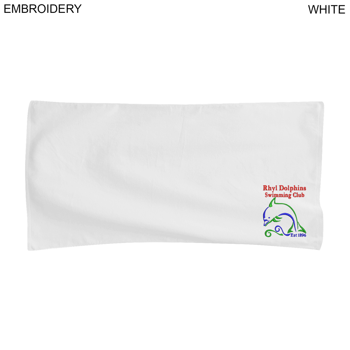 Velour Towel, 22x44,  EM375W, Embroidered Logo