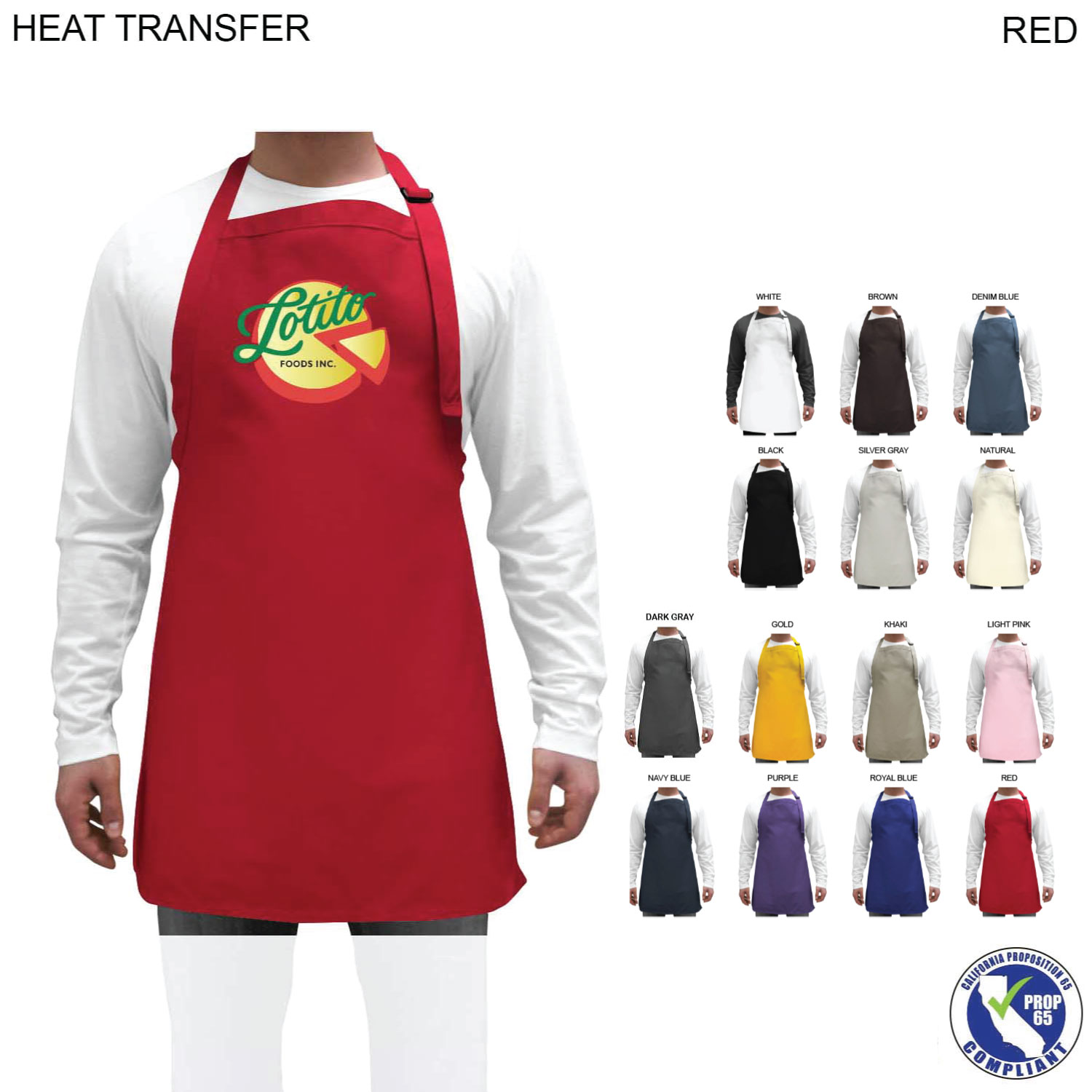 Twill Bib Apron, 25x28, Full Colour Imprint (#HT260)