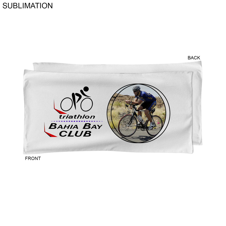 Microfiber Terry Triathlon Towel, 20x40,  SU462W-5, Full Colour Imprint