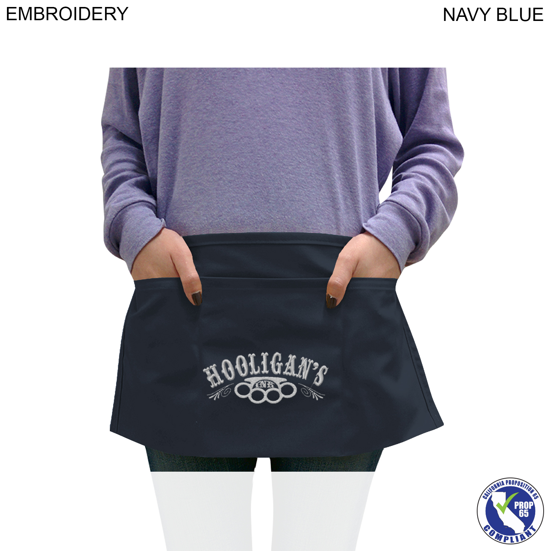 Waist Apron 3 Pockets, Embroidered (#EM380)
