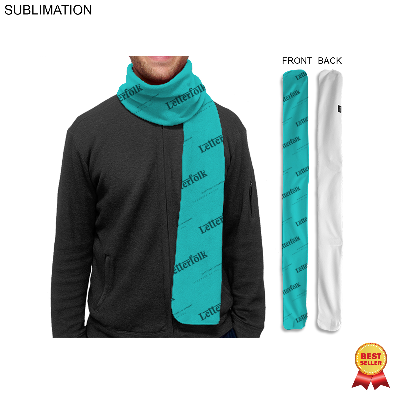 Fleece Scarf, 6x60 SU182-2, Full Colour Imprint