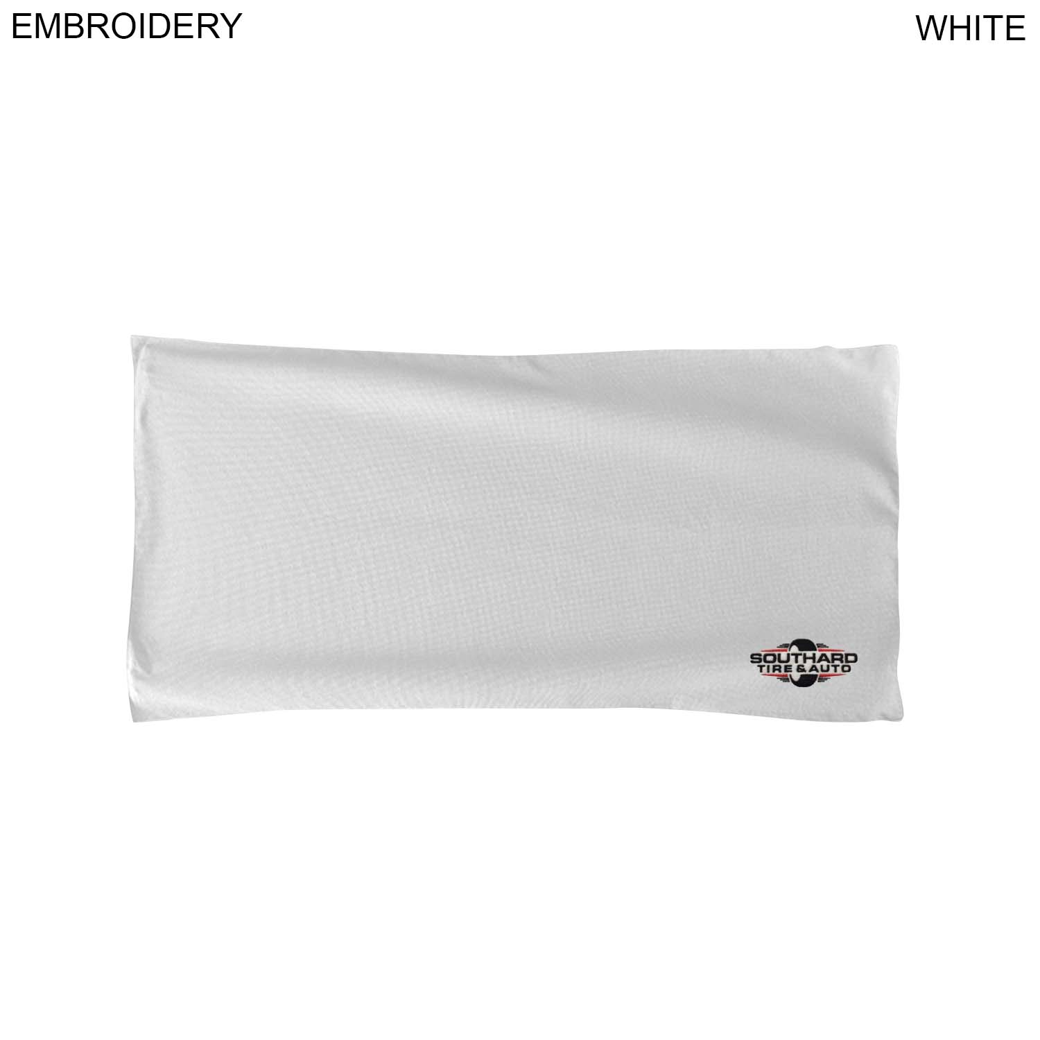 Microfiber Terry Towel, 22x44,  EM463W, Embroidered Logo