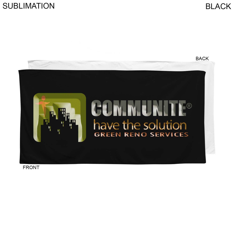 Velour Colored Towel, 24x48, Sublimated SU631-2, Full Colour Imprint