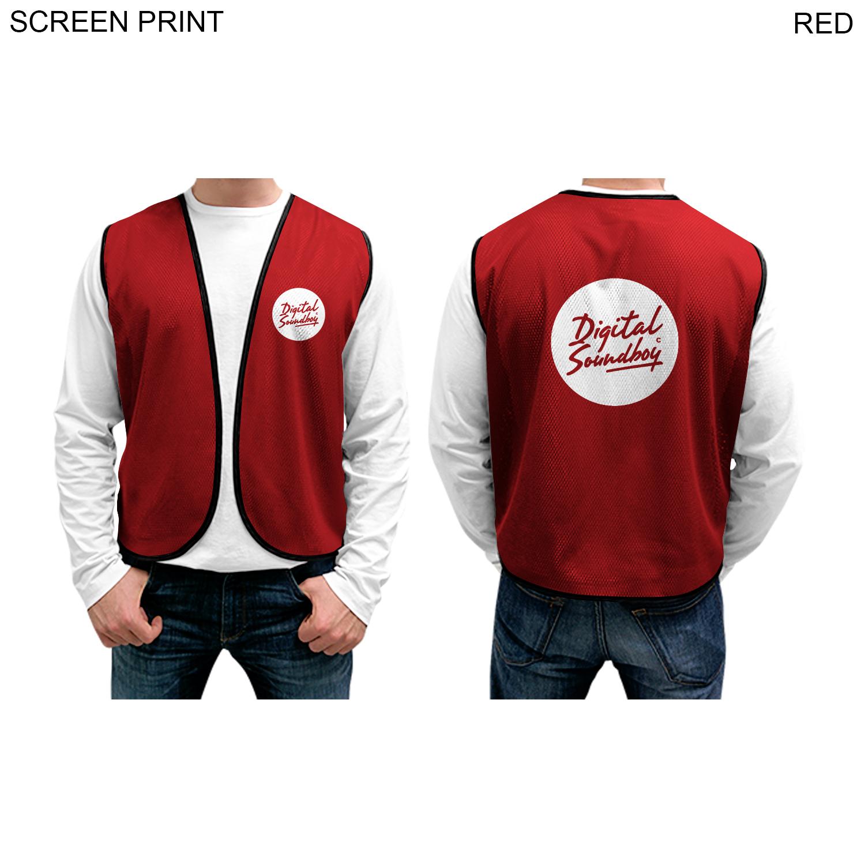 Mesh Vest, 1 Colour Imprint (#PR249)