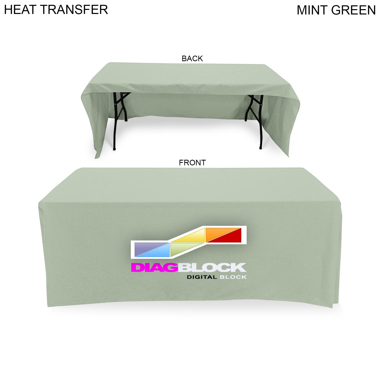 Poplin Table Throw for 6' Table (Open Back), Full Colour Imprint (#HT602)