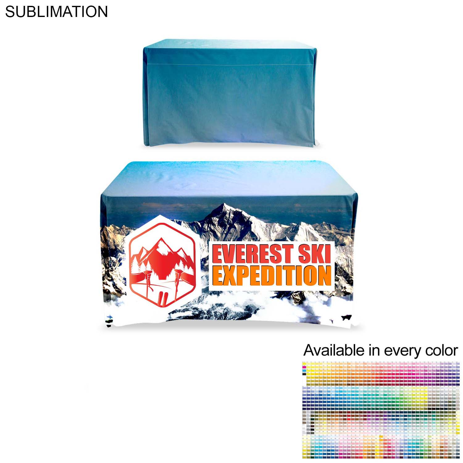 Table Throw for4' Table, (Closed Back), Sublimated - Full Colour Imprint (#SU510)