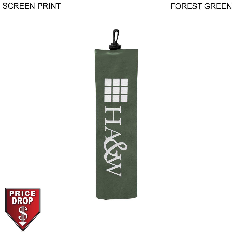 Microfiber Suede Golf Towel 5x18,  PR334-2, 1 Colour Imprint