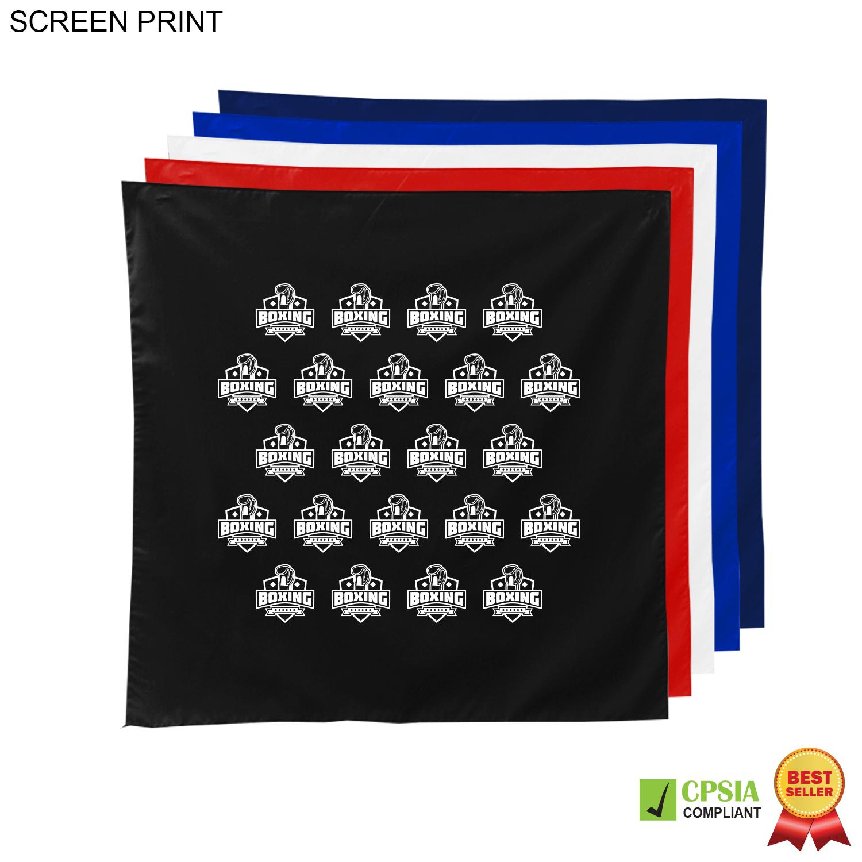 Square Bandana, 22x22, 1 Colour Imprint (#PR535)