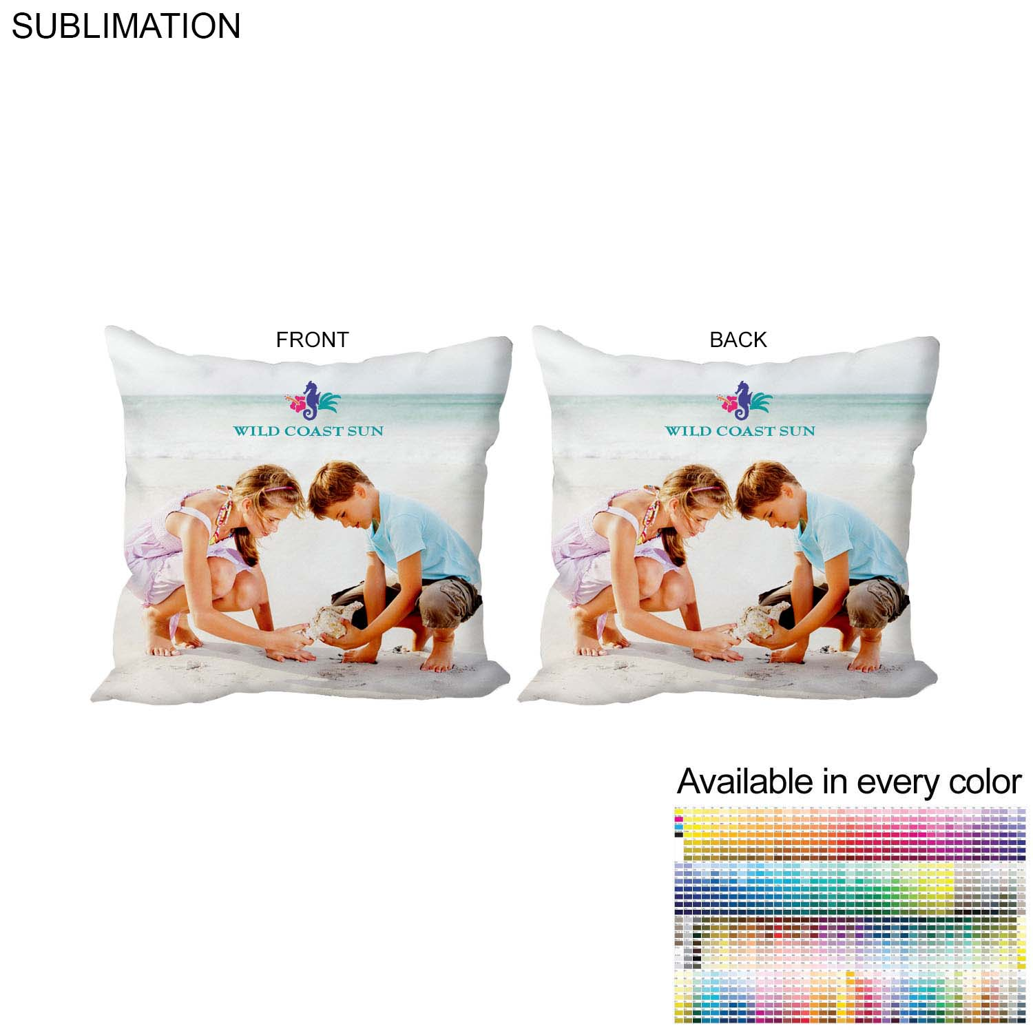 Polyester Large Throw Cushion, 20x20 SU574, Full Colour Imprint