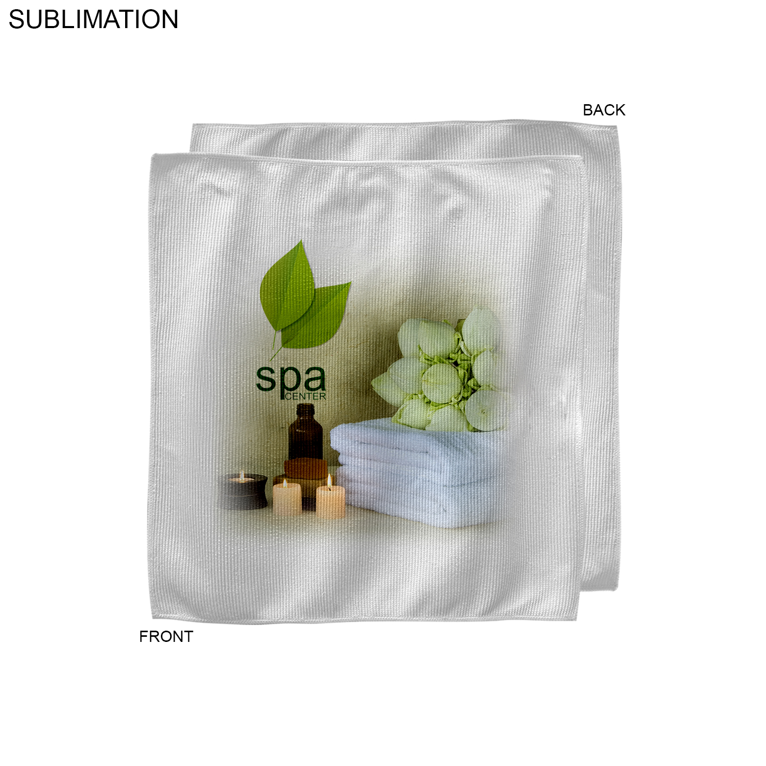 Microfiber Face Cloth, 12x12,  SU206-5, Full Colour Imprint