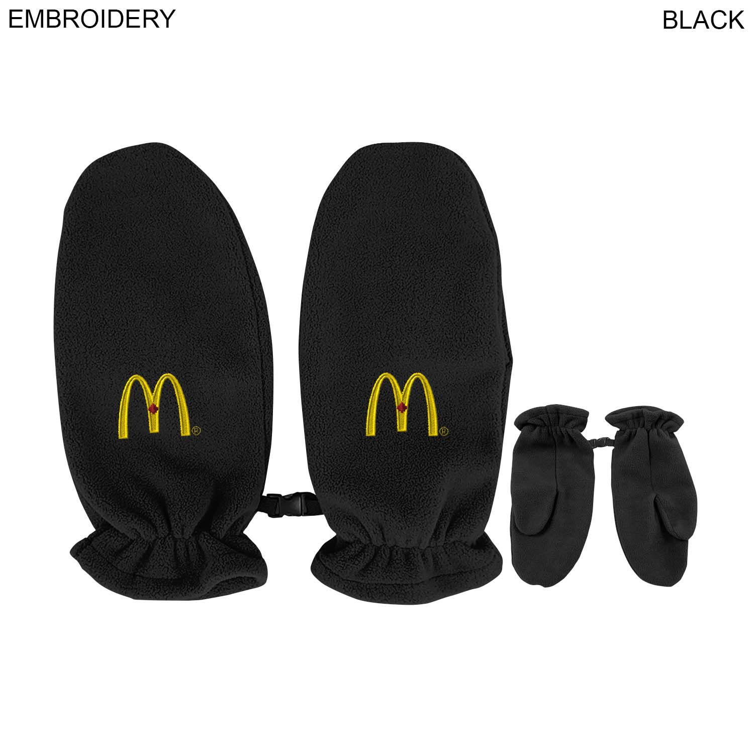 Fleece Adult Mittens,  EM585, Embroidered Logo