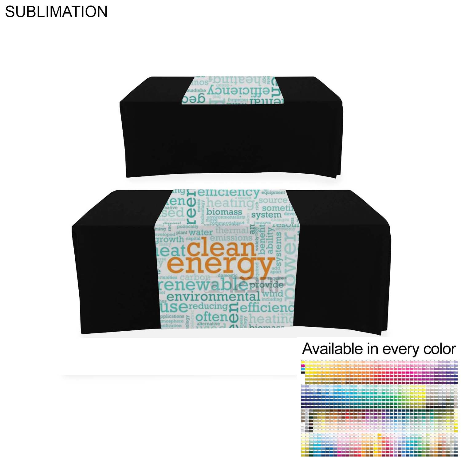 Sublimated Table Runner (Open Back), 30x60 - Full Colour Imprint (#SU518)