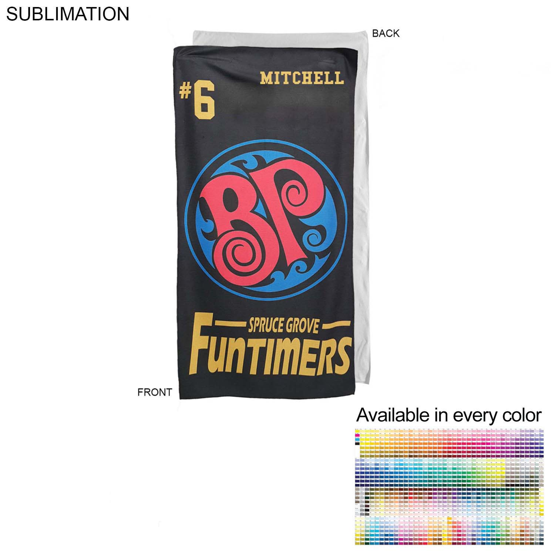 Promo Sublimated Microfiber Terry Team Towel, 30x60 - Full Colour Imprint (#SU210W-3)