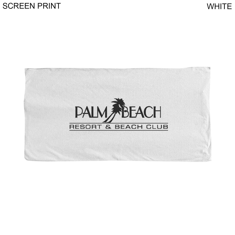 Microfiber Terry Towel, 30x60,  PR210W, 1 Colour Imprint