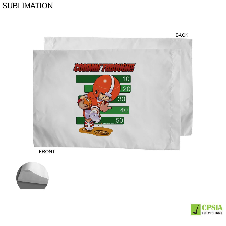 Poplin White Pillowcase,  SU160-3, Full Colour Imprint