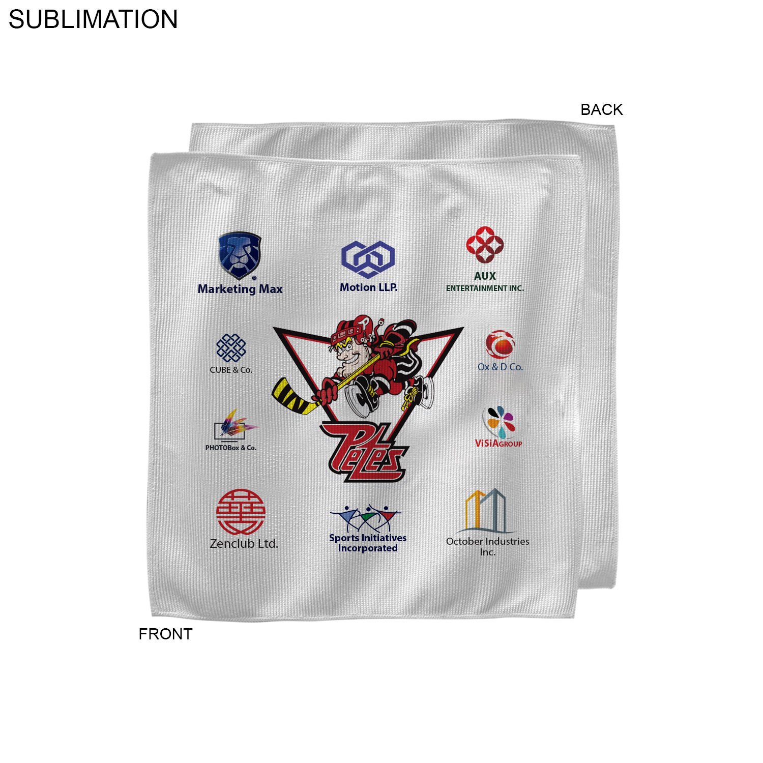 Sponsorship Rally Towel, 12x12,  SU206-8, Full Colour Imprint