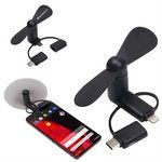 Custom 3-in-1 USB Phone Fan