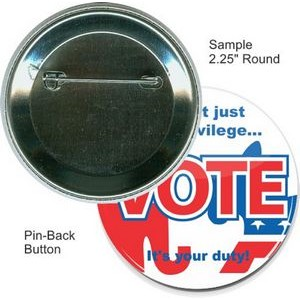 Custom Buttons - 2 1/4 Inch Round, Pin-back
