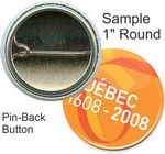 Custom Custom Buttons - 1 Inch Round, Pin-back