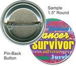 Custom Custom Buttons - 1 1/2 Inch Round, Pin-back