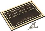 Custom Cast Aluminum Outdoor Plaque-8x10 Dk Brown/Gold