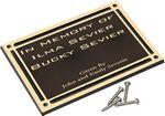 Custom Cast Aluminum Outdoor Plaque-4x6 Dk Brown/Gold