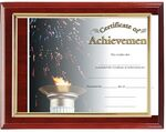 Custom Hi-Gloss Mahogany Wood Certificate Holder 8