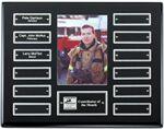 Custom Ebony Perpetual Plaque w/ Photo - 12 Nameplates
