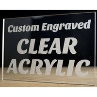 """Engraved Premium Acrylic Signs Up to 2x10"""""""