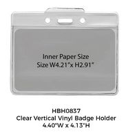 Clear Horizontal Vinyl Badge Holder
