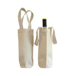 Canvas Wine Bottle Holder Bag Tote