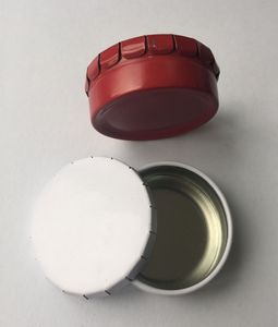 Promotional Product - Small Round Clicker Tin/ Tin Box/Candy Box/Dog Food  container/Pill Box