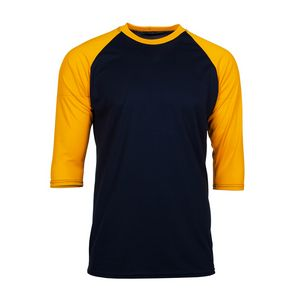 Raglan 3/4 sleeve baseball jersey