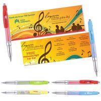 Plastic Big Clip Banner Pen