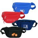 Custom Poly Three Zipper Fanny Pack