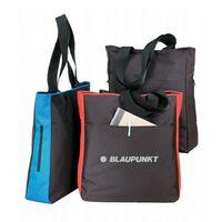 Poly Side Zipper Tote Bag
