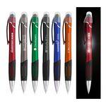 Custom LED Light Up Ballpoint Pen w/ Stylus