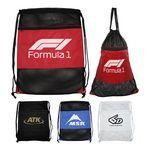 Nylon Drawstring Sports Mesh Tote Backpack Bag