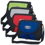 Custom Double Zippered Personal Messenger Lunch Cooler Bag