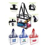 Custom Stadium Clear PVC Zipper Tote Bag