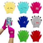 Custom One size Fits Most Touch Screen Knit Stitching Fleece Stylus Gloves