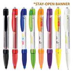 Stay-Open Plastic Banner Pen
