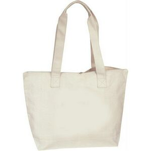 2ad67ef25d Cotton Canvas Zippered Boat Tote Bag - B-82105 - IdeaStage Promotional  Products