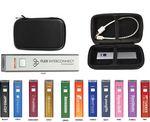 Custom 2600 mAh Power Bank with Black Zipper Travel Case