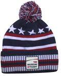 Custom USA Multi-Stripe Cap w/Pom